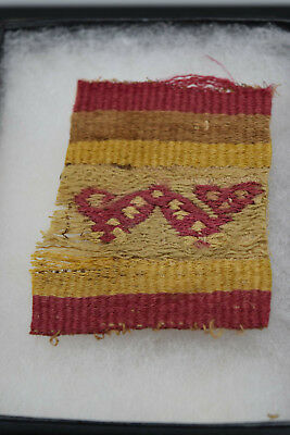 Very RARE 1000+ Year old Pre Columbian Textile, ca 1000-1470 A.D. Chancay Design