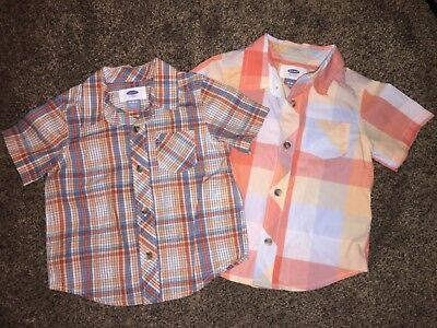 Baby Boy shirts 12-18 month Old Navy collared button down short sleeve NICE!