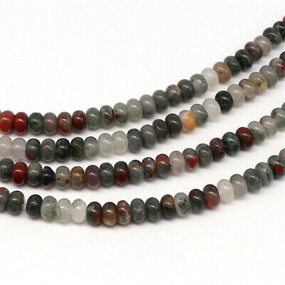 4x6mm Natural Bloodstone Loose Beads Making Jewelry 15 inches Gemstone Hole