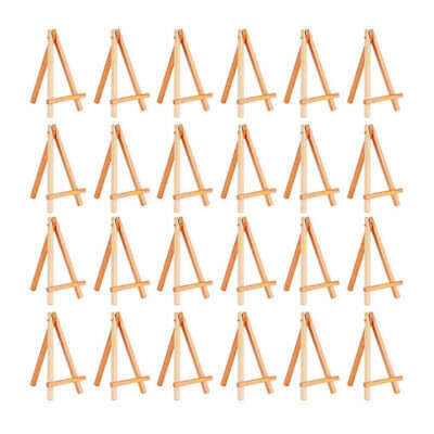 24 Pack Mini Wood Display Easel Wood Easels Set For Paintings Craft Small A D6Y4