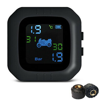 Tire Pressure Monitoring System Motorcycle TPMS Real-Time Tester+2 Sensor 2.4GHz