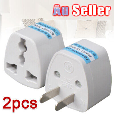 2X US UK EU to AU Australia Power Plug AU European Adaptor Converter Travel