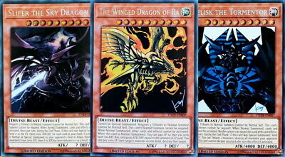 Yugioh Slifer Obelisk Ra Dragon Prismatic TN19 8/30 Mint PreOrder August 30th