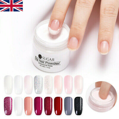 UR SUGAR 30ml Dipping Powder Glitter Natural Dry French Nail Tip Design UK STOCK