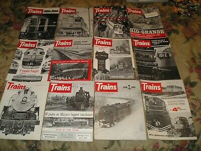 1964 Trains the Magazine of Railroading complete year 12 issues lot