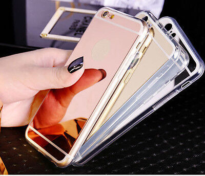 Ultra-thin Soft Silicone TPU Mirrors Case Cover For Samsung Galaxy Phone Luxury