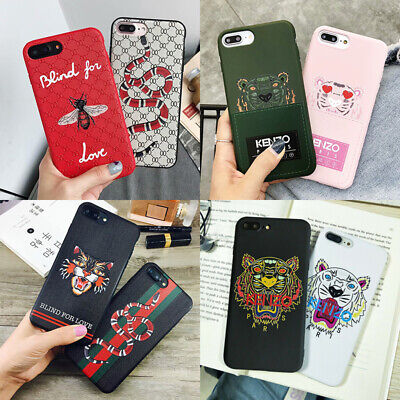 Fashion Snake Tiger TPU Slim Cell Case Cover For iPhone 6 7 7P 8 8P X XR XS MAX
