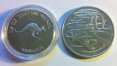 1/4 OZ 999 Fine Nickel 2012 Bullion Coin (Kangaroo/Australia)