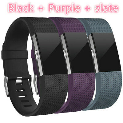3 Pack Replacement Band for fitbit charge 2 Buckle Wristband Fitness Small Large