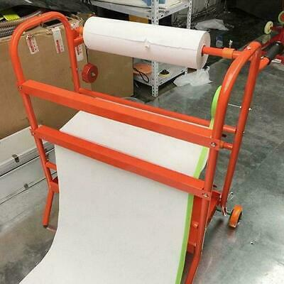 """24"""" Mobile Masking Paint Paper Dispenser Stand Tool Storage Rack Auto Body Shop"""