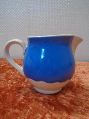 Annaburg Art Deco Ceramics Design Milk Jug Cream/Light Blue Vintage um 1930