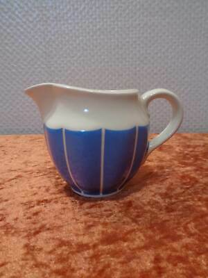 Annaburg Art Deco Ceramics Design Milk Jug Cream/Light Blue Vintage Um