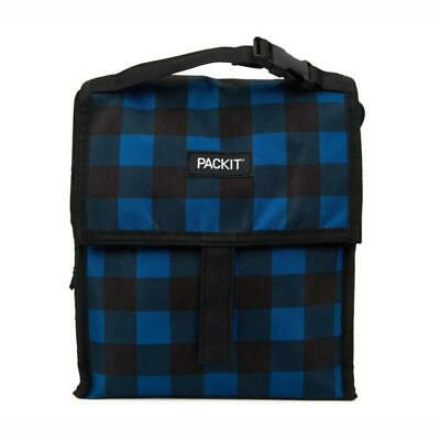 NEW PACKIT(R) | Freezable Lunch Bag 4.5L - Navy Buffalo Check PRIMAX Botanex