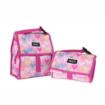 NEW PACKIT(R) | Freezable Lunch Bag 4.5L - Pixel Hearts PRIMAX Botanex