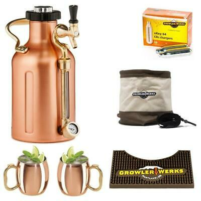 NEW GROWLERWERKS | uKeg 64oz Beer Keg, Copper Cocktail Kit GrowlerWerks Botanex