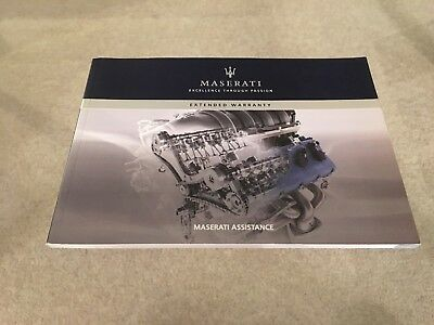 Genuine Maserati Assistance Extended Warranty Handbook Published 2009