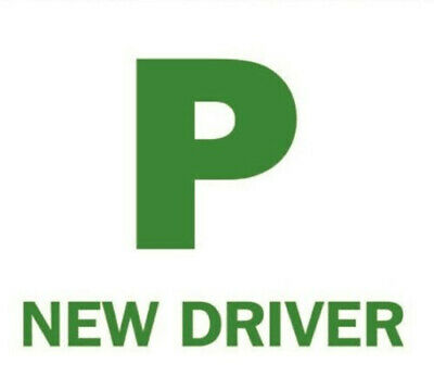 New Driver P Plate Fully Magnetic Exterior Car Learner Just Passed Signs
