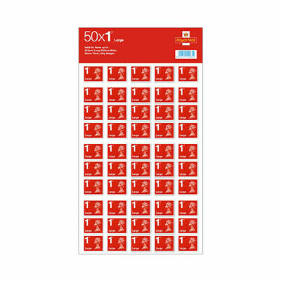 50x Royal Mail 1st Class Large Letter size Stamps