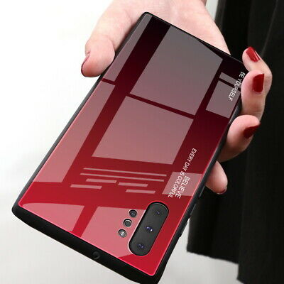 Case For Samsung Galaxy Note 10 Plus A40 Slim Gradient Tempered Glass Hard Cover