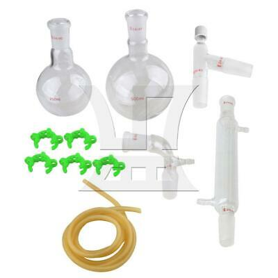 24/40, 500ML Glass Distillation Apparatus Chemistry Lab Glassware Kit
