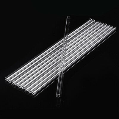 10Pcs 300mm OD 7mm 1.5mm Thick Wall Borosilicate Glass Blowing Tube Lab Tubing