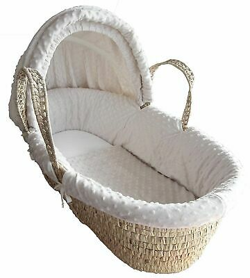 MOSES BASKET FOAM MATTRESS BABY PRAM OVAL BREATHABLE QUILTED 71 x 36 x 3.5 CM