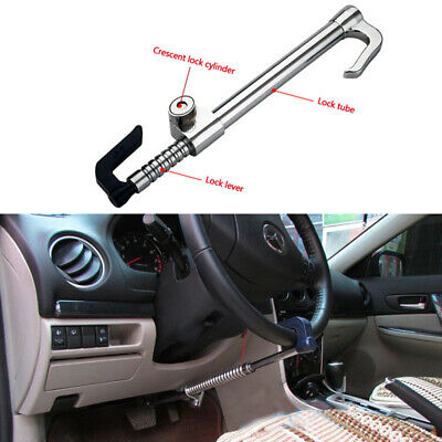 Universal Car Extendable Double Hook Steering Wheel Lock Anti Theft Brake Clutch