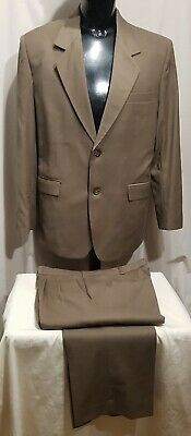 Size 42 ANDRE J (aus) mens wool 2 button suit brown new unworn office business