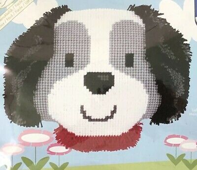 Sale. Vervaco Cross Stitch And Latch Hook Cushion Kit 🐶🐶 Dog 🐶🐶 Sale.