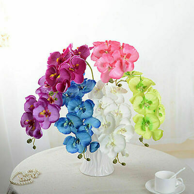 Artificial Butterfly Orchid Silk Flower Home Mariage Phalaenopsis Bouquet Décor