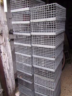 VINTAGE WIRE CRATE Galvanised Industrial  Factory Metal  Stacking Storage 1 ONLY