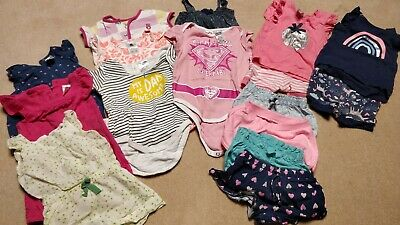 Baby Girl Summer Clothes Bundle Size 0 6-12 Months