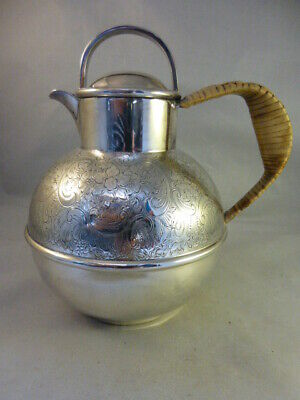 Superb Vintage Silver Plated Chased Guernsey Milk Jug / Can