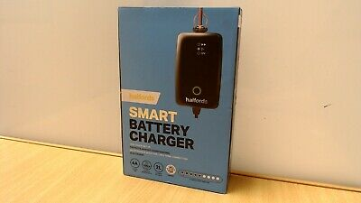 Halfords Smart Battery Charger 4A 60ah Battery OL 97271