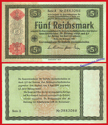 ALEMANIA GERMANY 5 Reichsmark 1934 Perforated Pick 207s SC- /  aUNC
