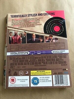 Baby Driver Blu-ray (Original Slipcover / No Discs / No Case / UK Slipcover Only