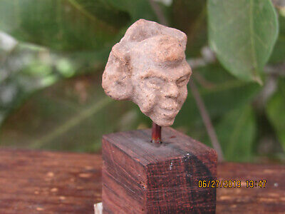 Pre-Columbian Maya Clay Head Fragment
