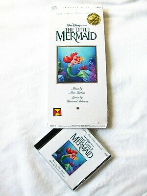 Little Mermaid Movie Soundtrack Longbox Cd 1989 Academy Award Promo Hype Sticker