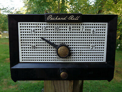Packard Bell Tube Radio Vintage Model 5R1  tested Working 1950's RETRO