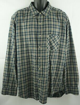 American Apparel Flannel Plaid Button Front Shirt Size XL Made In U.S.A