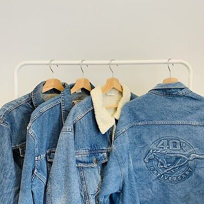 30 x DENIM JACKETS - GRADE A - BULK VINTAGE WHOLESALE