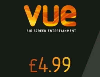 1 VUE Codes ANY Cinema Adult Tickets For £4.99 ticket to be bought at Vue