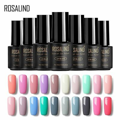 ROSALIND Semi Permanent 7ml Gel Poly Gel Soak Off Hybrid Varnish Gel Nail Polish
