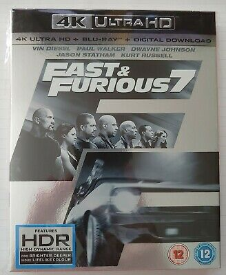 Fast And Furious 7 4K Ultra HD Blu Ray SLIP COVER ONLY - NO DISCS or CASE