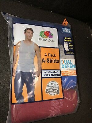 Fruit Of The Loom Mens A-Shirt 4 pack Mix Color Assorted Tank Top 3XL!!