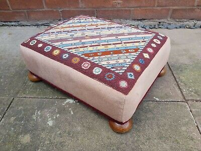 Tapestry Foot Stool Used