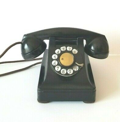 Vintage Bell System Telephone F1 Black Rotary Dial Made by Western Electric