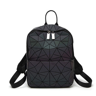 HotOne Geometric Luminous Backpack and Holographic Wallet Daypack & Purses No.3