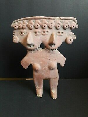 Pre Columbian clay Pottery Vessel Figure Mayan?