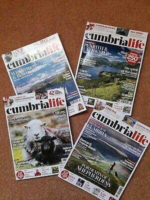 Cumbria Life magazines x 4:  March, June, July and August 2019